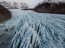 Geleira de Skaftafell em Islândia Imagem de Stock Royalty Free