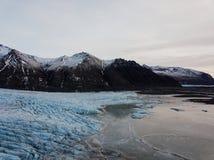 Geleira de Skaftafell em Islândia Fotografia de Stock Royalty Free