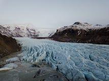 Geleira de Skaftafell em Islândia Fotos de Stock Royalty Free