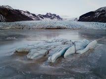 Geleira de Skaftafell em Islândia Fotos de Stock