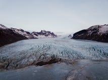 Geleira de Skaftafell em Islândia Fotografia de Stock