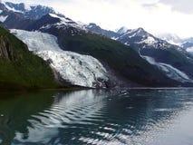 Geleira de Vassar - Fjord da faculdade, Alaska foto de stock