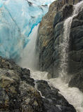 Geleira de Worthington, Richardson Highway, Alaska Imagens de Stock Royalty Free