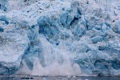 Geleira do parto - geleira de Hubbard, Alaska Fotos de Stock Royalty Free
