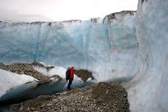 Geleira em Alaska imagem de stock