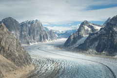 Geleira em Denali (o Monte McKinley) Fotos de Stock Royalty Free