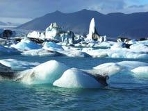 Geleira em Islândia foto de stock