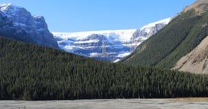 Geleira em Jasper National Park 4K filme