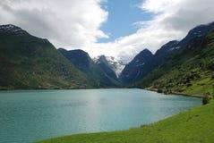 Geleira em Jostedalsbreen, Noruega de Briksdalsbreen Imagem de Stock Royalty Free