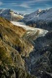 Geleira HDR de Aletsch Foto de Stock