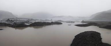Geleira islandêsa fotografia de stock