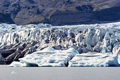 Geleira islandêsa imagens de stock royalty free