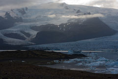Geleira islandêsa - Vatnajokull Fotografia de Stock Royalty Free