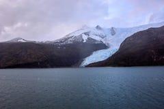 Geleira Italia em Tierra del Fuego, canal do lebreiro, Alberto de Agostini National Park no Chile foto de stock