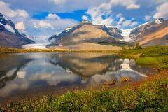 Geleira Jasper National Park de Athabasca Imagem de Stock Royalty Free