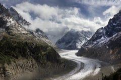 Geleira, Montenvers, Chamonix, França imagens de stock royalty free
