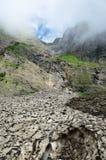 Geleira (neige de le pont de) no verão Pyrenees Fotos de Stock