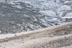 Geleira no Cáucaso, Geórgia Imagens de Stock