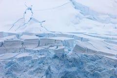 Geleira, paisagem antártica fotografia de stock