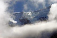 Geleira superior da montanha - Mont Blanc imagem de stock royalty free