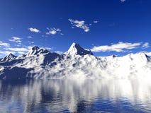 Geleiras de Alaska com reflexão da água Imagens de Stock Royalty Free