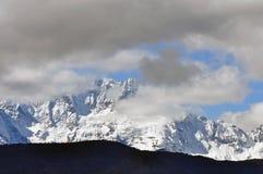 Geleiras de Mingyong da montanha da neve de Meili Foto de Stock Royalty Free