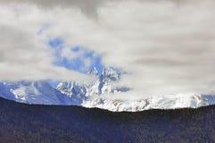 Geleiras de Mingyong da montanha da neve de Meili Imagem de Stock Royalty Free