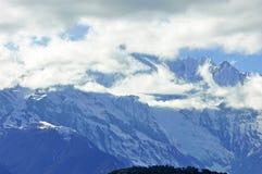 Geleiras de Mingyong da montanha da neve de Meili Imagens de Stock