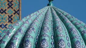 Geleitete Hauben-Struktur in Samarkand stock video footage