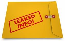 Gelekte Informatie Geclassificeerde Documenten Blootgestelde Envelop vector illustratie