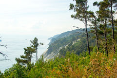 Gelendzhik,海和山的俄罗斯海岸 免版税库存照片