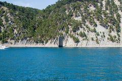 Gelendzhik,海和山, Skala帕鲁斯的俄罗斯海岸 免版税库存图片