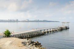Gelendzhik Ansicht von der Promenade Lizenzfreies Stockbild