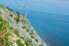 Gelendzhik, Russia coast of the sea and mountains stock image