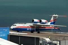 Gelendzhik, Russia - September 5,2018: Be-200ES Multipurpose amphibious aircraft on Hydroaviasalon 2018 stock photos