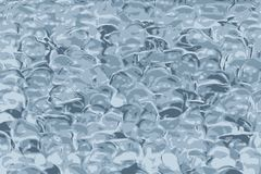 Gelez la texture, boules souples de silicium de la gelée bleue illustration stock