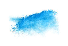 Gelez le mouvement du coup de poussière bleu d'isolement dessus Image stock