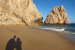Geliebte auf dem Strand Lizenzfreies Stockfoto