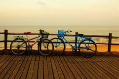 Geliebter und Fahrrad lizenzfreies stockbild
