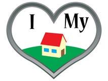 Geliefd huis vector illustratie