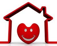 Geliefd huispictogram vector illustratie
