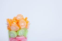 Gelieren Sie Bonbon, Aromafrucht, der bunte Süßigkeitsnachtisch Stockfotos