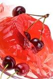 Gelieren Sie süße Kirschhintergrund Stockbilder