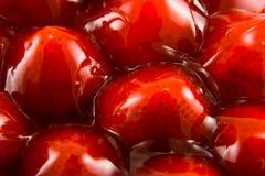 Gelierte Erdbeeren Stockfoto