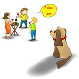 Gelieve te behandelen uw klein puppy Stock Afbeeldingen