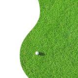 Gelieve te controleren mijn portefeuille meer sportieve illustraties Groene gebied en bal in gras stock afbeeldingen
