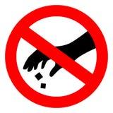 Gelieve te gebruiken vuilnisbak geen het een rommel maken van teken stock illustratie
