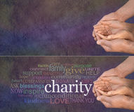 Gelieve te helpen onze Liefdadigheid Stock Fotografie