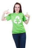 Gelieve te recycleren Stock Foto's