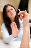 Gelieve te roken niet! Stock Foto's